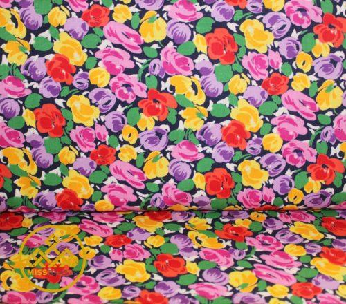 tela algodón flores, telas estampados flores