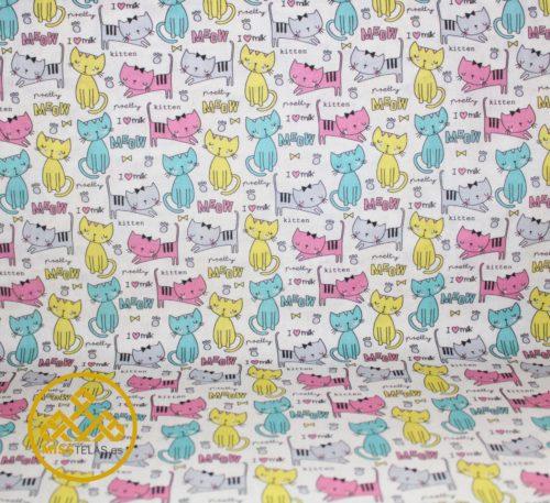 tela gatos, telas online gatos, tela animales, algodon de animales
