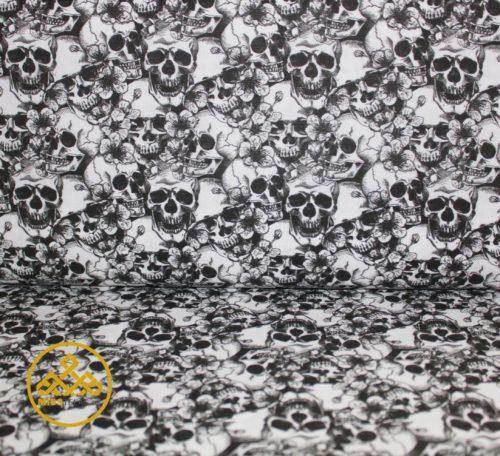 tela Calavera oscura, tela calaveras, venta online telas calaveras