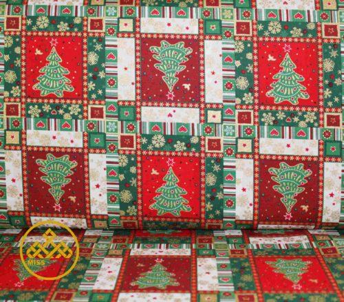 algodón navidad, patchwork