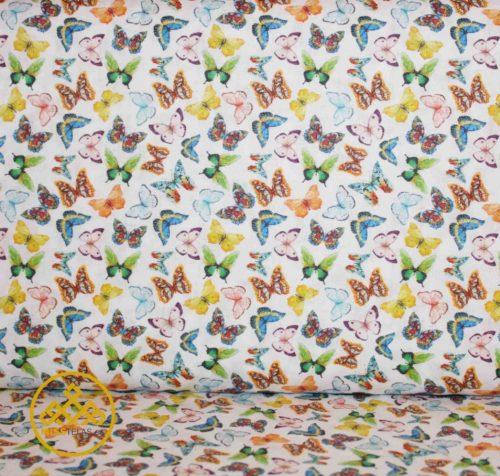 telas mariposas, algodón mariposas