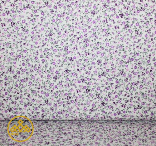 algodón flores tela