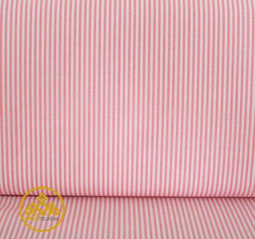 tela algodón de rayas, fondo rosa