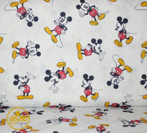 tela mickey algodón