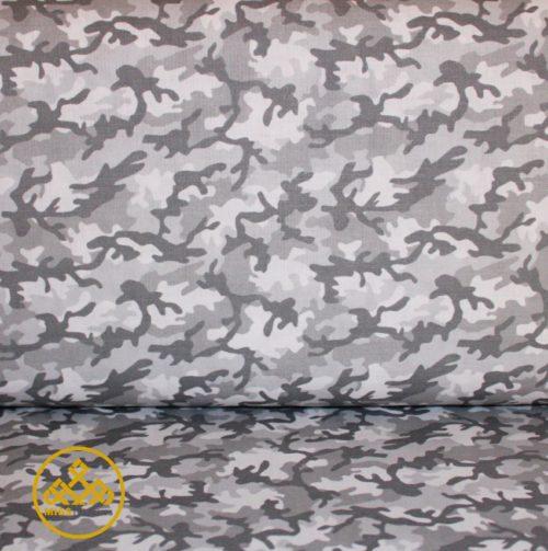 tela camuflaje algodón