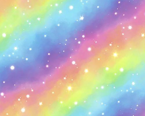 tela algodón arcoiris