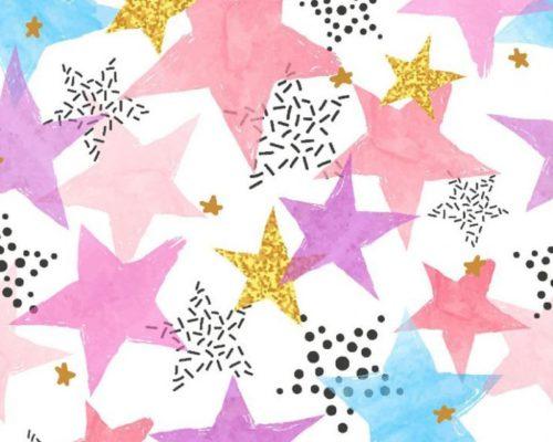 tela algodón estrellas
