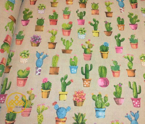 loneta dibujo cactus