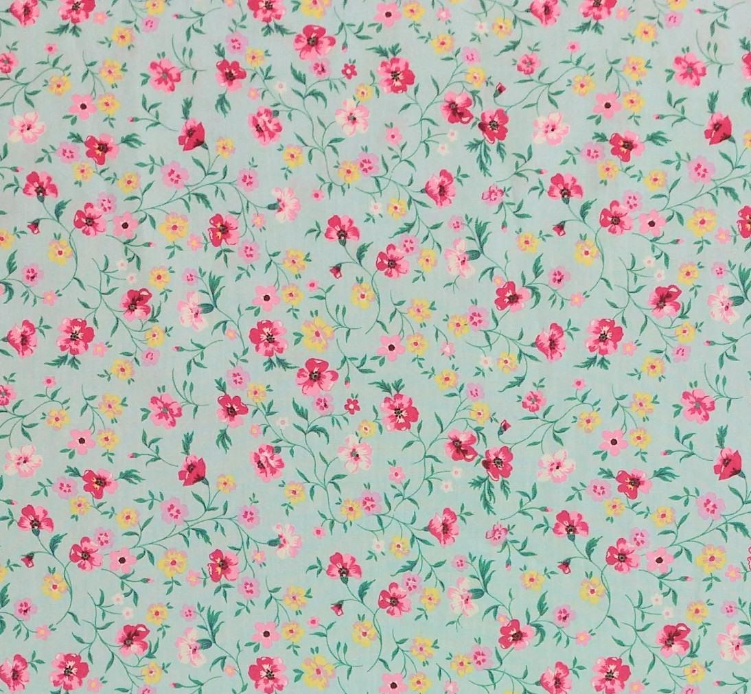 telas de algodón de flores de colección patchwork