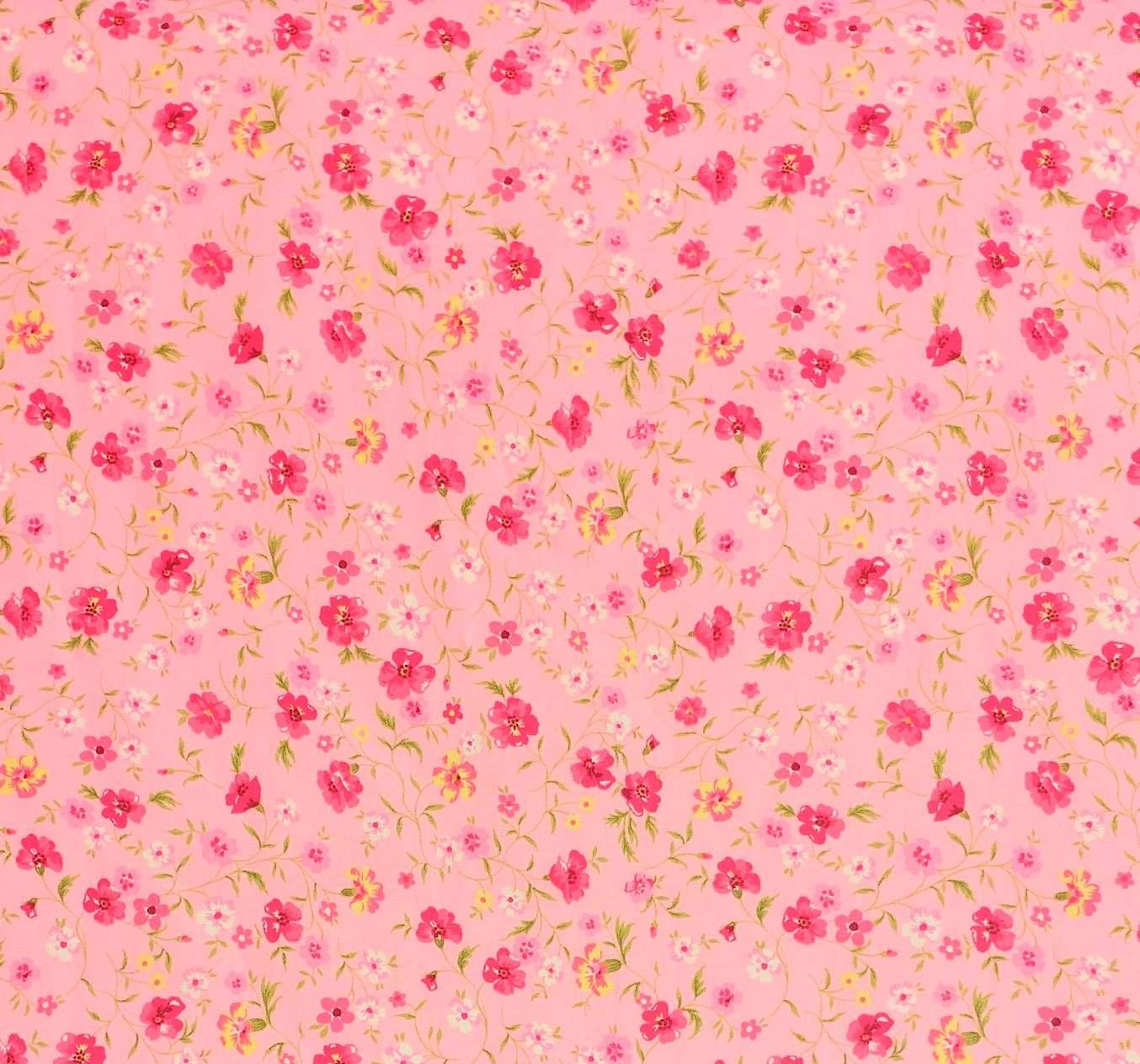 telas de algodón colección flores