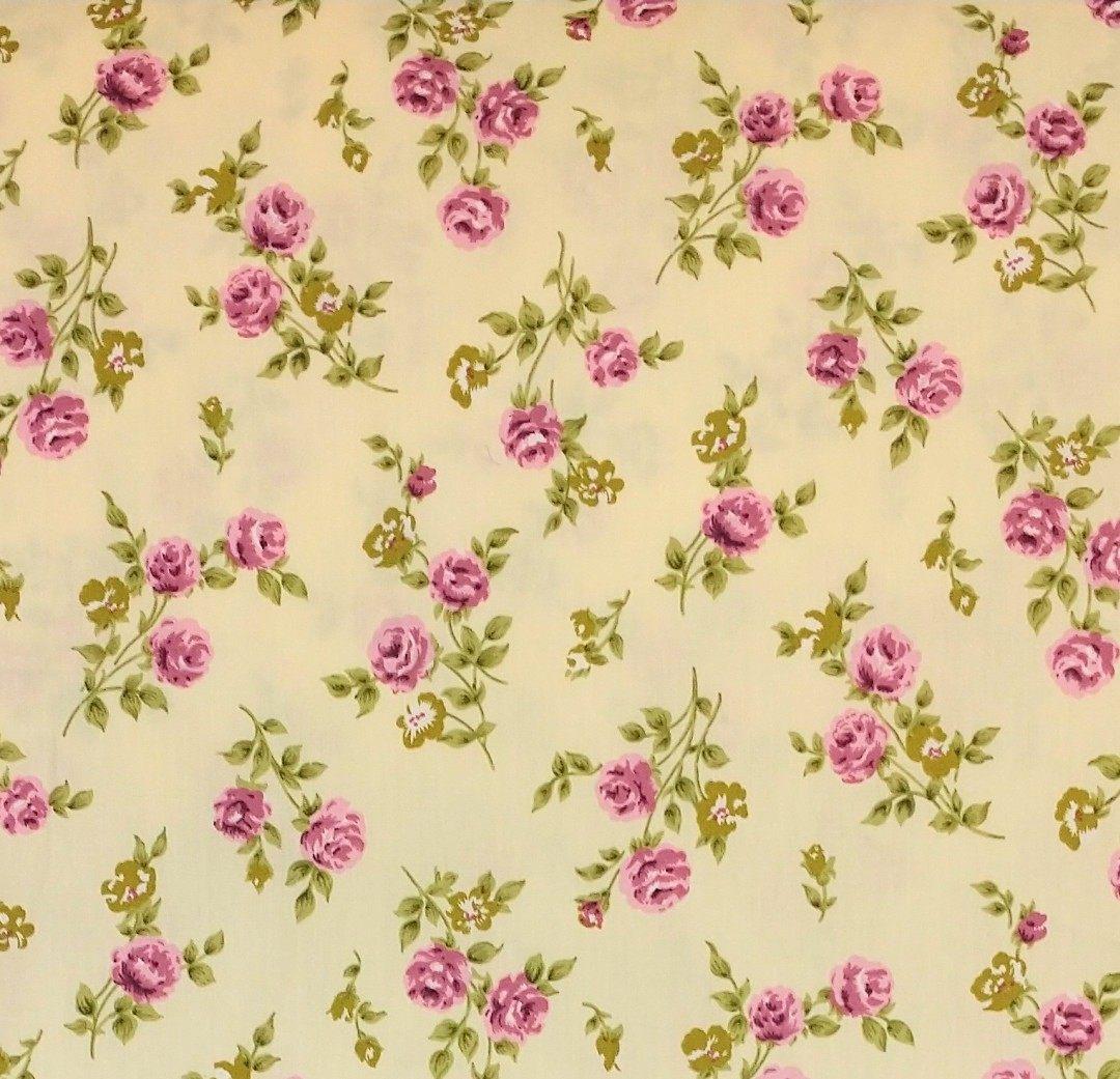 colección flores de algodón telas