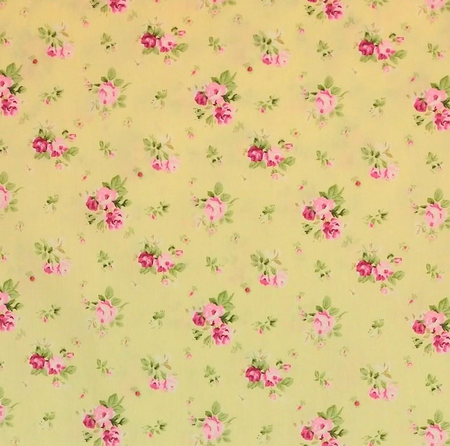 telas colección flores algodón