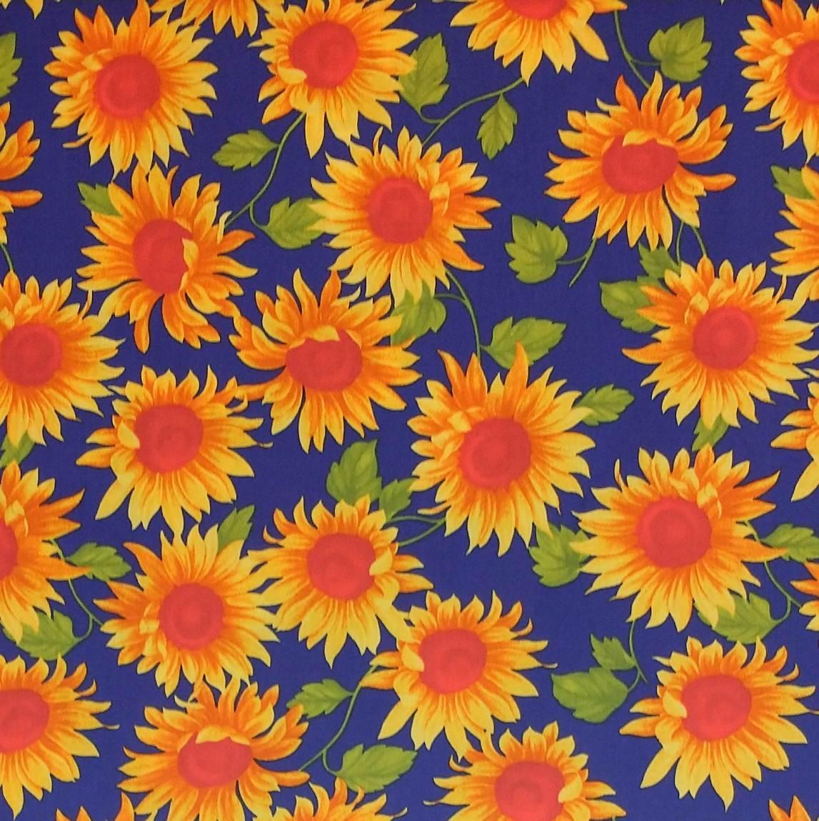 telas de algodón de flores