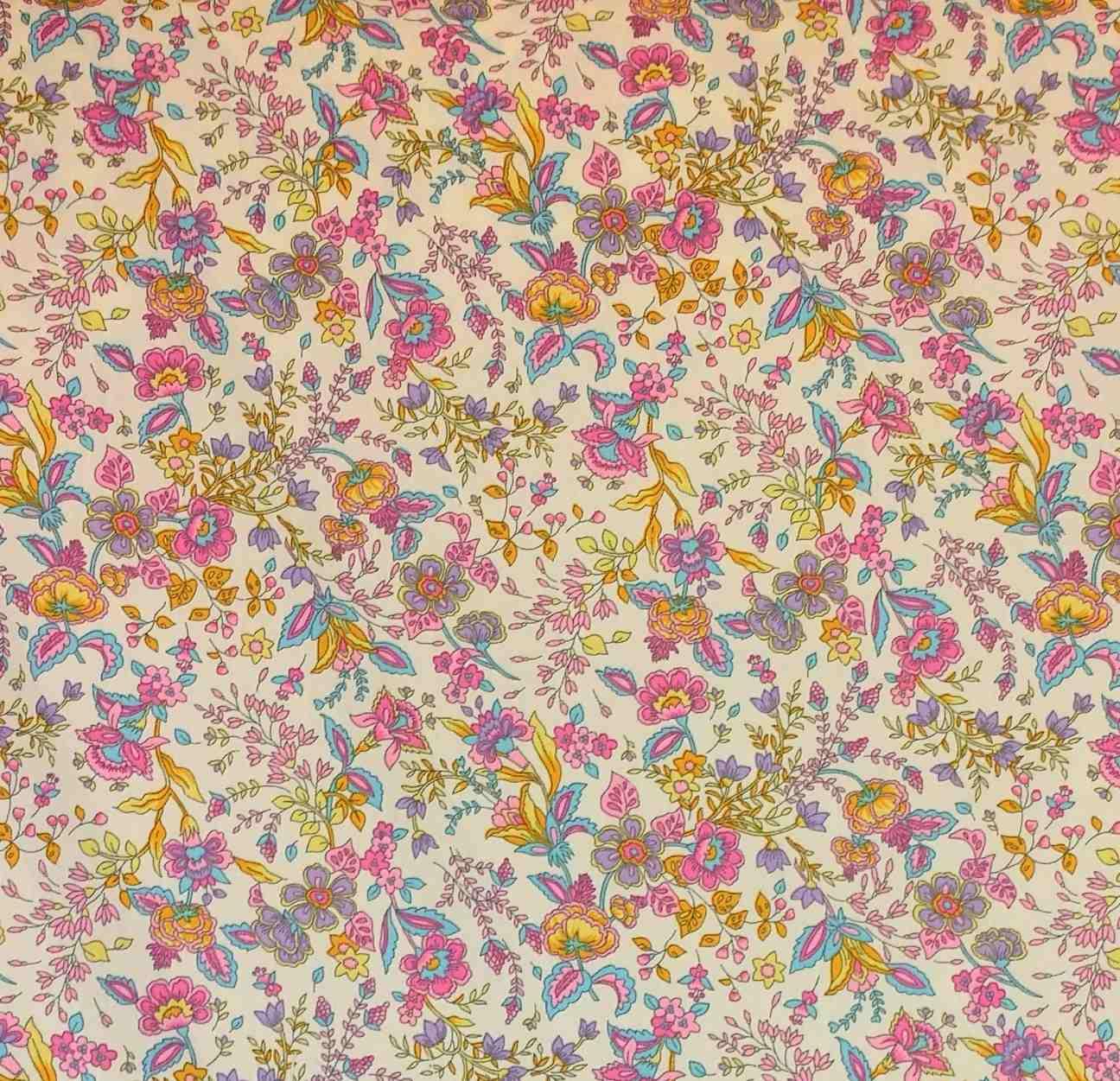 telas de colección algodón flores