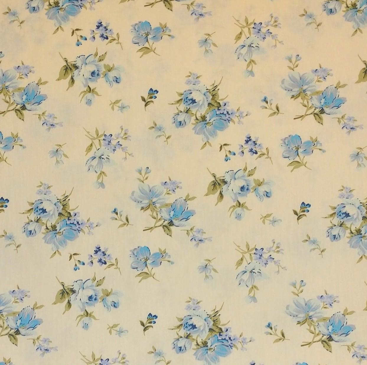 tela algodón colección flores